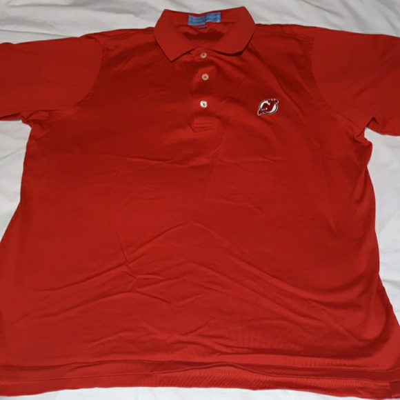 timeless design e9d56 c68d7 Fairway&Green NJ Jersey Devils NHL Polo Golf Shirt
